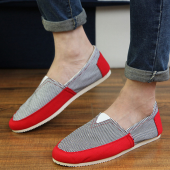 Fashion Simple Convenience Loafers - Red