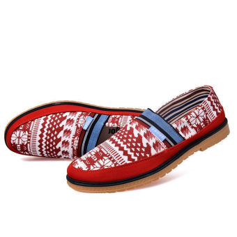 Fashion Simple New Loafers (Red) - picture 2