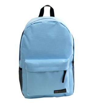 Fashion Simple Women Canvas Backpack Schoolbag Blue