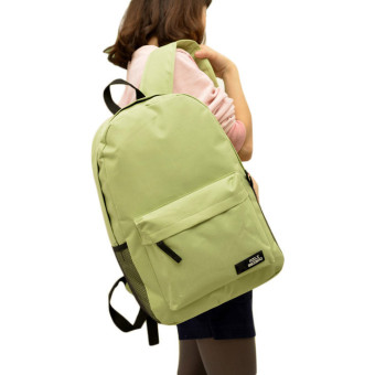 Fashion Simple Women Canvas Backpack Schoolbag (Green) - picture 2