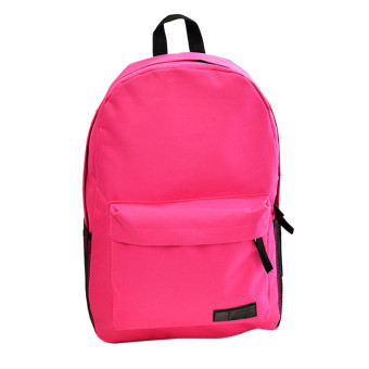 Fashion Simple Women Canvas Backpack Schoolbag (Hot Pink)