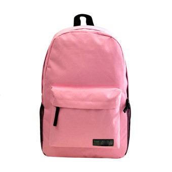 Fashion Simple Women Canvas Backpack Schoolbag (Pink)
