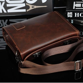 Fashion Single Shoulder bag Leather Messenger Bag Retro Briefcase - intl - 3