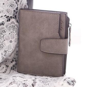 Fashion Small Female Purse short purse Lady Letter Snap Fastener Zipper Short Clutch Wallet Solid Vintage Matte Women Wallet Rose - intl - 3