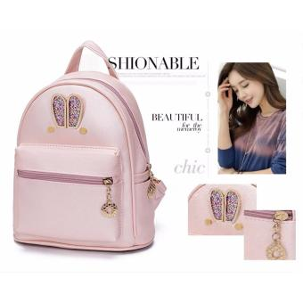 Fashion Small Women Backpacks Small Zipper Pu Leather Student Backpack Preppy Style Backpack Girls Women Back Pack Pink - 4
