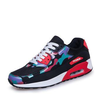 Fashion Sport Camouflage Women Low Cut Sneakers - Black
