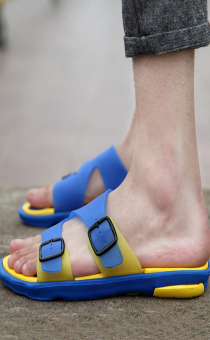 Fashion Sporty Sandals- Yellow - picture 2