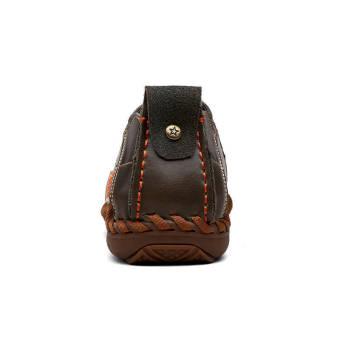 Fashion Square head Loafers - Dark Brown