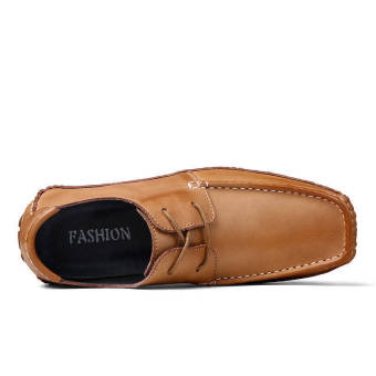Fashion Square head Loafers -Gold - picture 2