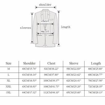 Fashion Stylish Men's Outwear One Button Casual Slim Fit Blazer Coat Jacket Suit [black] - intl - 2