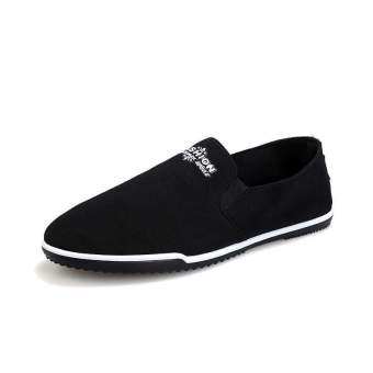 Fashion Summer Breathable Soft Bottom Loafers Black