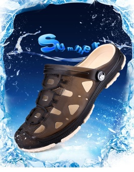 Fashion Summer Men slippers Breathable beach sandals croc maleshoes Hollow out of the drag men shoes sandals for summer brown -intl - 4