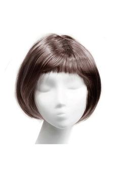 Fashion Synthetic Fiber BOBO Wig (Coffee)