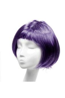 Fashion Synthetic Fiber BOBO Wig (Dark Purple)