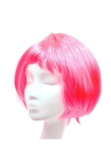 Fashion Synthetic Fiber BOBO Wig (Pink) - picture 2