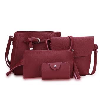 Fashion Trend 4 in 1 Bag Set BBWJH0021 (Maroon)