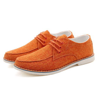 Fashion Trend Leather Flat shoes (Orange)