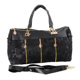 Fashion Vintage Women PU Leather Messenger Bag Tote Shoulder Bag Lace Handbag
