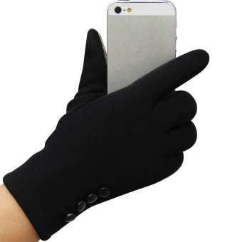 Fashion Womens Touch Screen Winter Outdoor Sport Warm Gloves Black