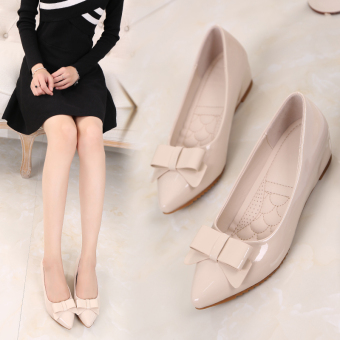Female New style increased within small yards shoes Spring and Autumn shoes (Beige)