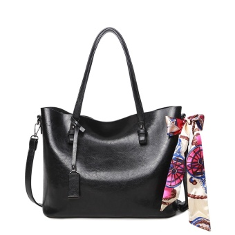 Female New style large bag (Black [Collection product to send clutch bag scarf])