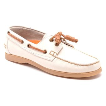 Finch Frost Boat Shoes (White)