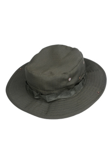 Fishing Hiking Snap Brim Military Hat (Dark Grey)