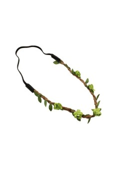 Floral Rose Fairy Costume Hair Band Green