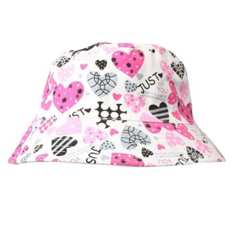 Floral Sun Hat White+Pink