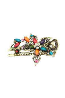 Flower Crystal Hair Clip (Multi-Color) - picture 2