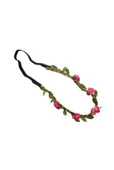 Flower Floral Hair Band Rose Pink