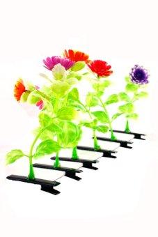 Flower Hair Clip Set of 6 (Multicolor) A