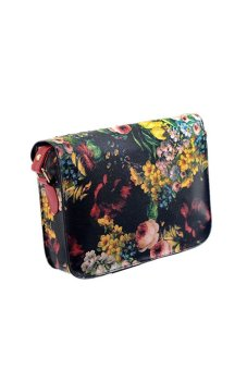 Flowers Painting Leather Crossbody Bag (Multicolor) - picture 2