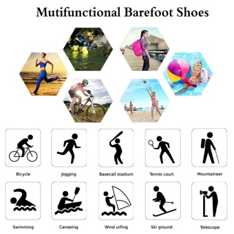 Foldable Slip Men Women Surf Aqua Beach Water Socks Shoes Sport Yoga Swim Diving Anti-slip Bottom Water Sport Shoes - intl - 4