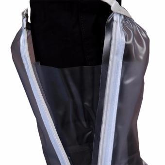 Foldable Waterproof Flood Proof Rain Boot Shoe Cover for Men White - 2