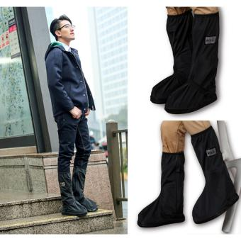 Foldable Waterproof Flood Proof Rain Shoe Cover for Men - 2