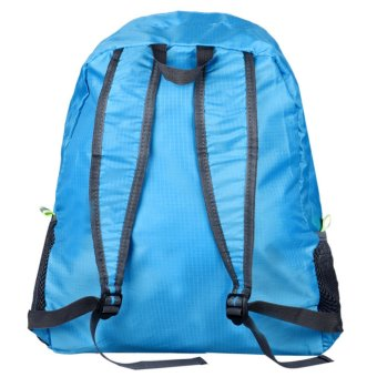 Folding Shoulder Bag Female Outdoor Backpack Blue - picture 2