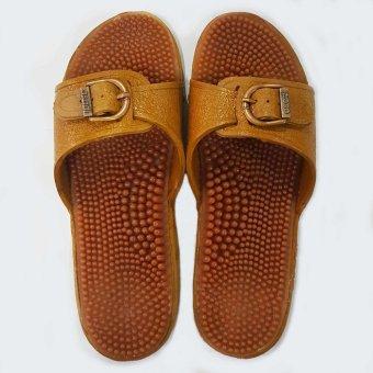 Foot Reflexology Massage Health Slippers AS1 (Brown) - 2