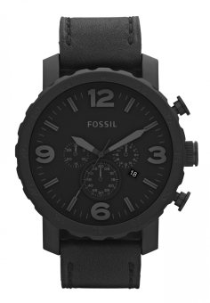 Fossil Nate JR1354 Watch (Black)