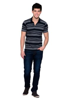 Freego Slim Fit Polotees (Total Eclipse) - 4