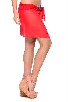 French Dolls Bottom Skirt Cover Up (Red)