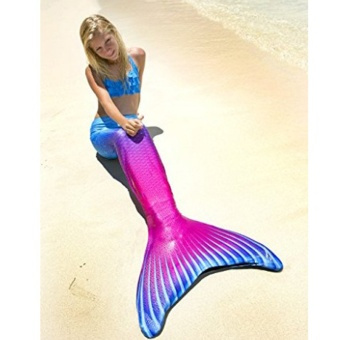 Fshion Ladies Mermaid Swimming Suit Girls Cute Mermaid Tail Beach Swimwear - Rose Blue - intl - 2