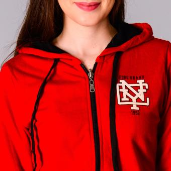 Fubu Queens Hoodie FGT16-005 (Red/Black) - 4