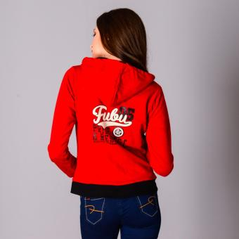 Fubu Queens Hoodie FGT16-005 (Red/Black) - 3