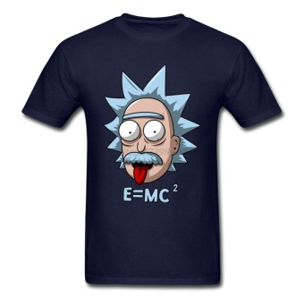 Funny Rick and Morty Men T Shirt Short Sleeve Love Physics ScienceE MC2 T-shirts Einstein - intl Price Philippines