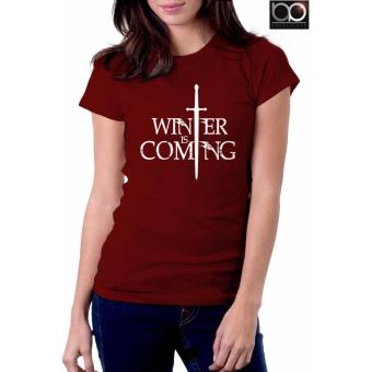 Game of Thrones T-shirt for Women - Winter is Coming (Maroon) Price Philippines