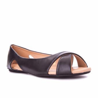 G&G Peep Toe Ballet Shoes (BLACK)
