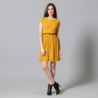 Get Laud Sd Samantha Lace Dress (Yellow) - 2