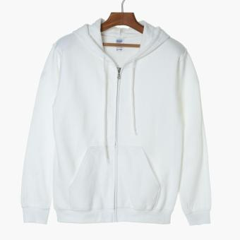 Gildan Boys Teens Hoodie (White)