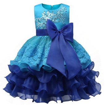 Girl Dress Children Kids Dresses For Girls 3 4 5 6 7 8 YearBirthday Outfits Dresses Girls Evening Party Formal Wear Pink -intl - 4